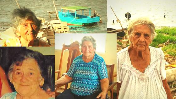 Mosaico con retratos de mujeres carboneras de Punta Alegre, Cuba.