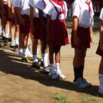 Escolares formados en Cuba. Foto: Alberto Consuegra.